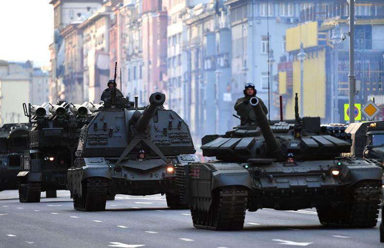 Репетиция парада ко Дню Победы в Москве